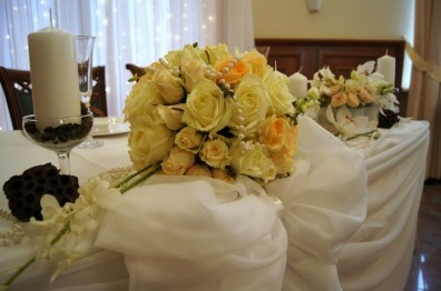 Цветы на свадьбу в персиковом цвете