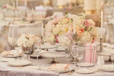 Цветы на свадьбу в розовом цвете