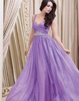 Свадебный образ невесты в фиолетовом стиле