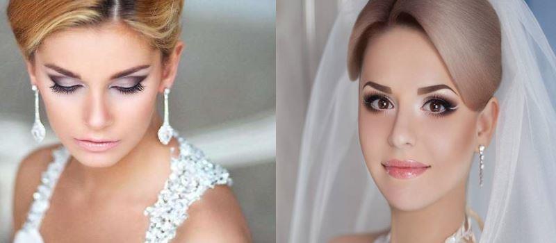 Свадебный макияж и прическа на дому