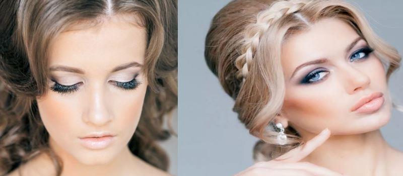 Свадебный макияж и свадебная прическа на дом в Москве