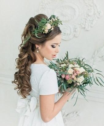 Прическа в деревенском стиле для невесты