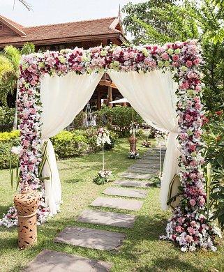 Арка в стиле Прованс на свадьбу