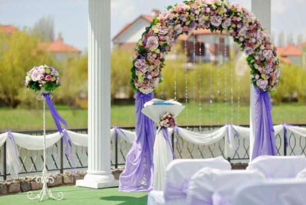 Оформление арки на свадьбу Лобня