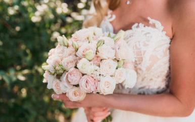 Букет невесты для свадьбы в розовом Москва