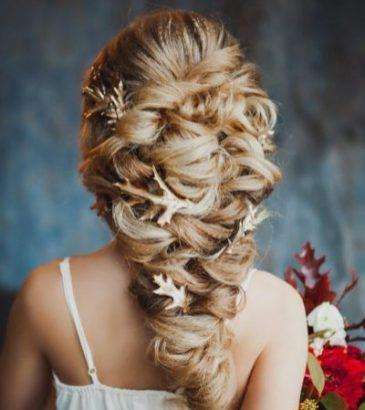Сложная прическа на свадьбу греческая коса