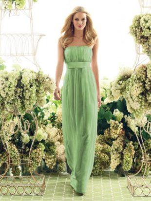 Свадебное платье зеленое