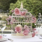 Гостевые столы на свадьбу украшенные клетками