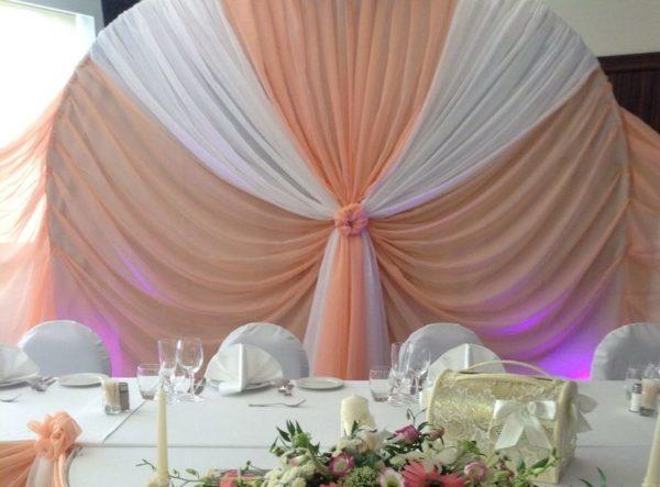 Оформление свадебного зала в паетках стоимость