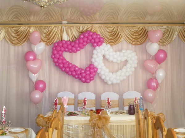 Оформление свадеб шарами цены Икша