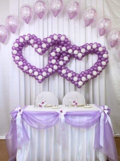 Оформление свадьбы белыми шарами