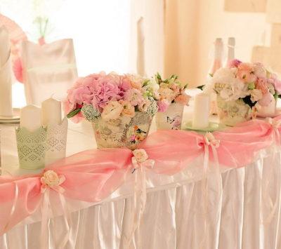 Оформление свадебного зала в ярко-розовом цвете цена