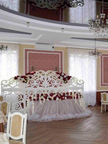 Оформление свадебного зала в пудровом цвете цена