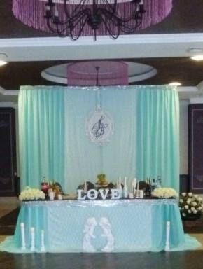Оформление свадебного зала в бирюзовом цвете цена