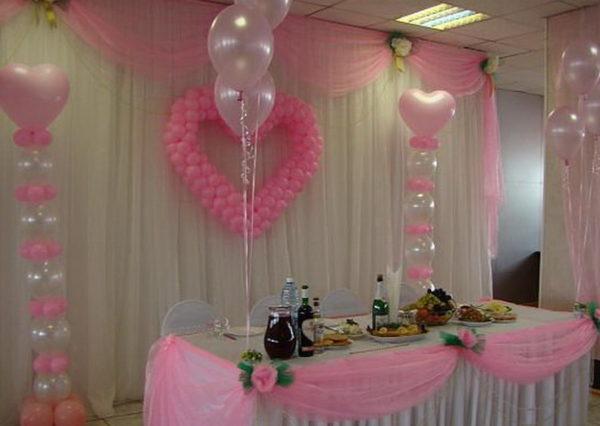Оформление свадеб шарами цены Лобня