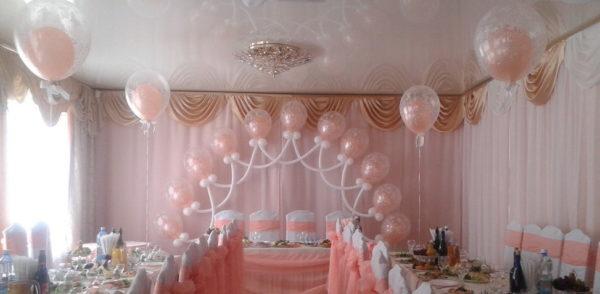 Оформление свадеб шарами цены