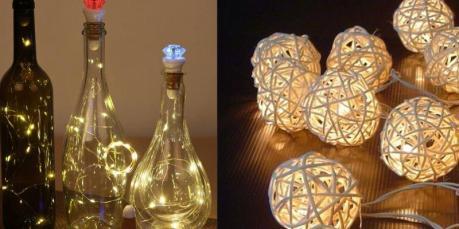 Бутыли с подсветкой на свадьбу