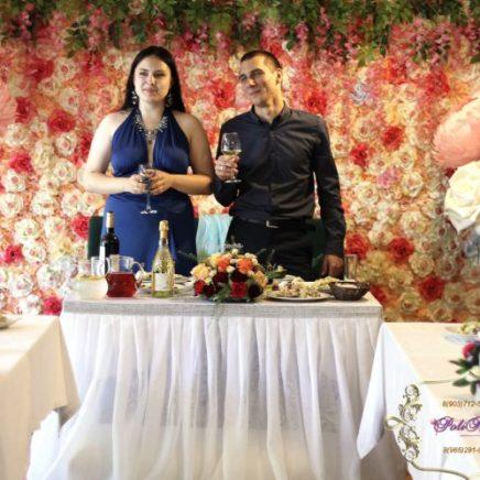 Украшение свадьбы большими цветами