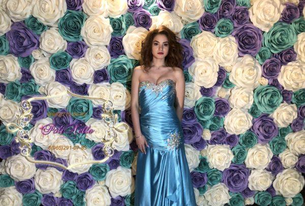 Фотозона на свадьбу в сиреневом цвете