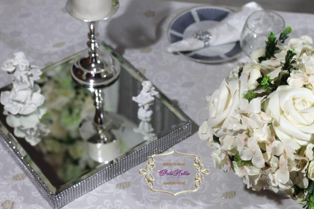 Свадебный декор серебряный