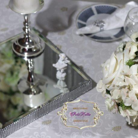 Украшение свадебного зала в серебряном цвете
