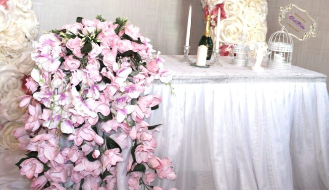 Цветы ручной работы для свадьбы в розовом