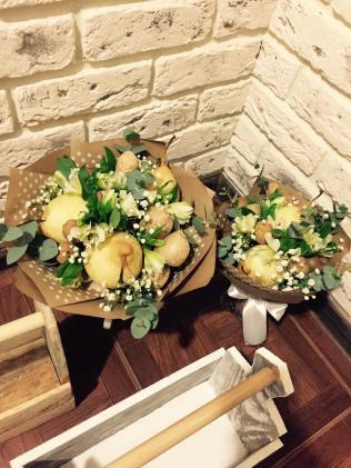 Живые цветы для свадьбы в стиле Бохо