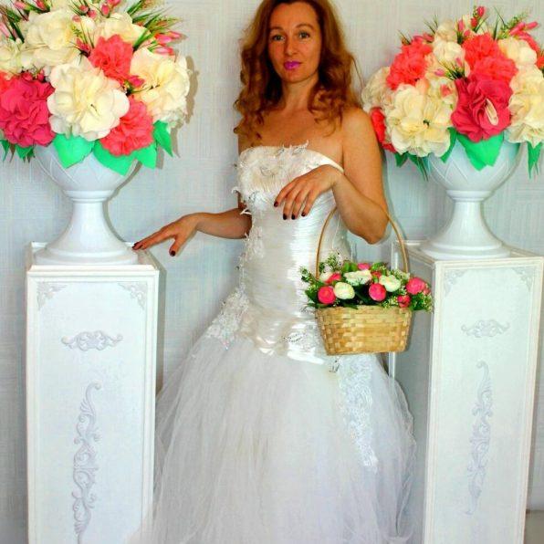 Украшение свадьбы в белом