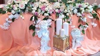 оформление свадьбы свечами