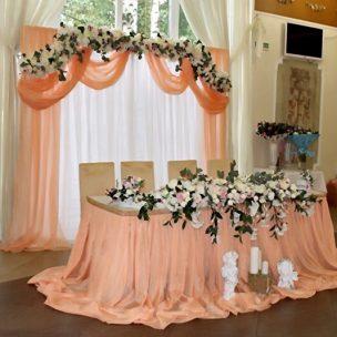 Украшение свадьбы в персиковом цвете Москва