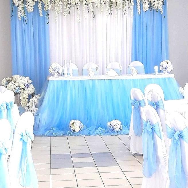 Украшение свадебного зала в стиле Тифани