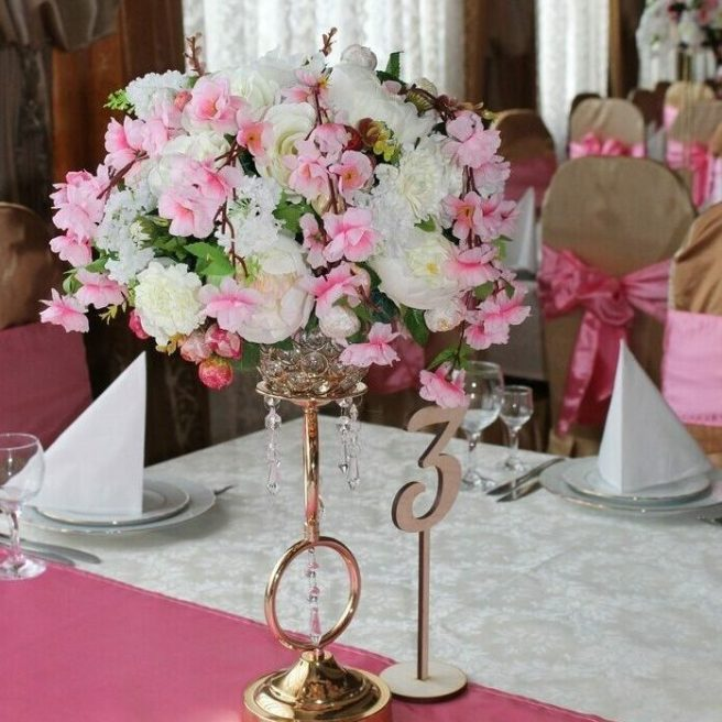 Украшение гостевых столов в стиле Шик