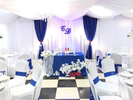 Оформление свадьбы в синем цвете Москва