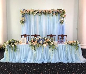 Украшение свадьбы в голубом цвете Москва