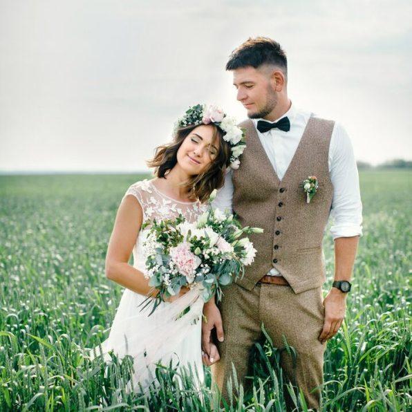 Свадебная прическа в рустик стиле