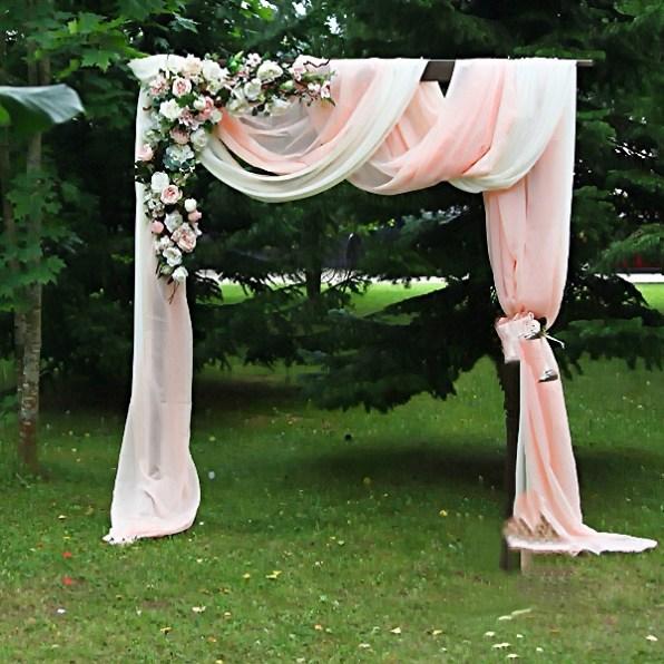 Украшение свадебной арки