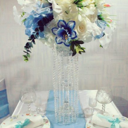 Цветочная композиция в стиле тиффани на свадьбу