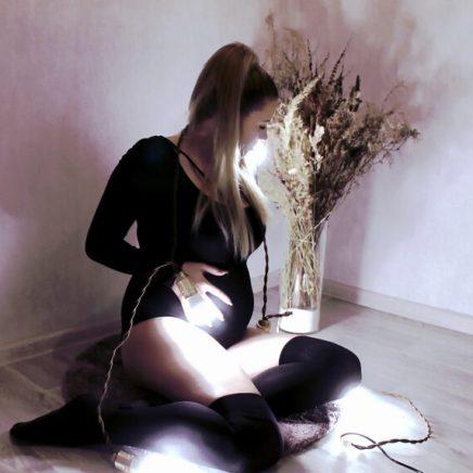 Домашняя фотосессия беременной
