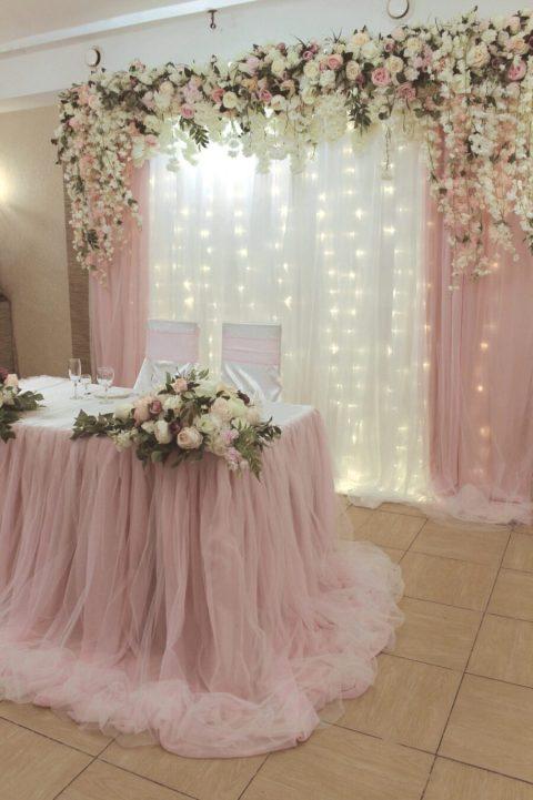 Свадьба в цвете пудровая роза