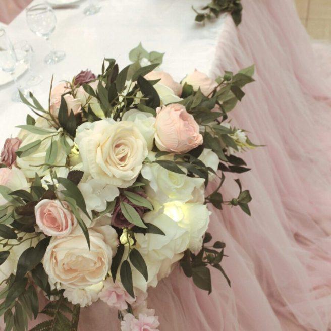 Искусственные цветы на свадьбу