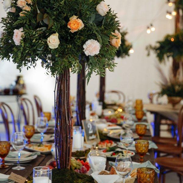 Стили оформления свадебного зала