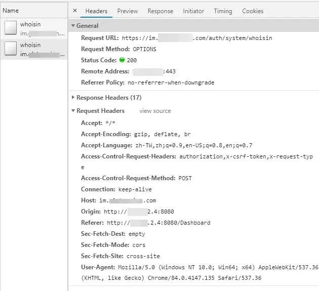 Spring Boot 與 Vue + Axios 跨域訪問(CORS)並使用 JWT 解決 302(OPTIONS) 問題