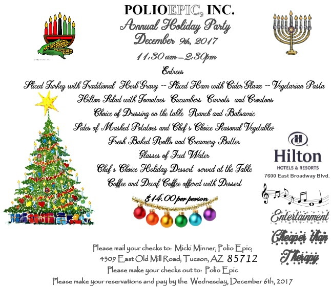 PolioEpic 2017 Holiday Party Notice