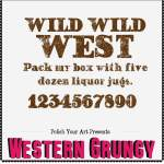 Western Grungy Font