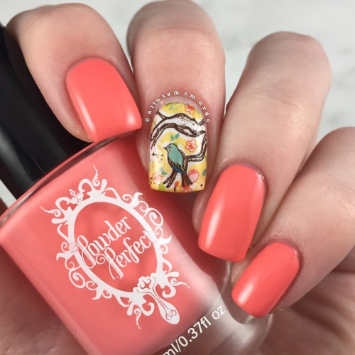MILV N 265 Nail Decal with Powder Perfect Florida Review and Swatches - Polish and Paws