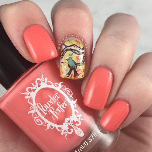 MILV N265 Decal with Powder Perfect Florida Review and Swatches - Polish and Paws