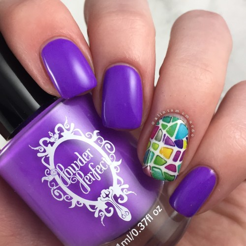 MILV N 225p Nail Decal with Powder Perfect Puerto Rico Review and Swatches - Polish and Paws