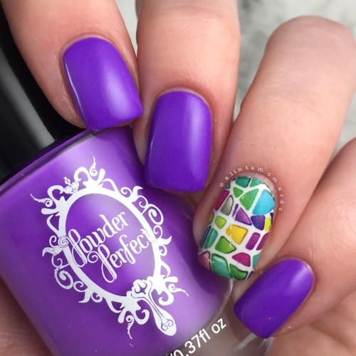 MILV N225p Decal with Powder Perfect Puerto Rico Review and Swatches - Polish and Paws