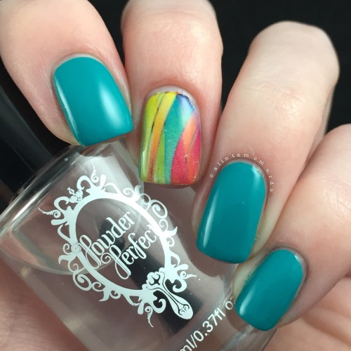 MILV N 392 Decal with Powder Perfect Bermuda Review and Swatches - Polish and Paws