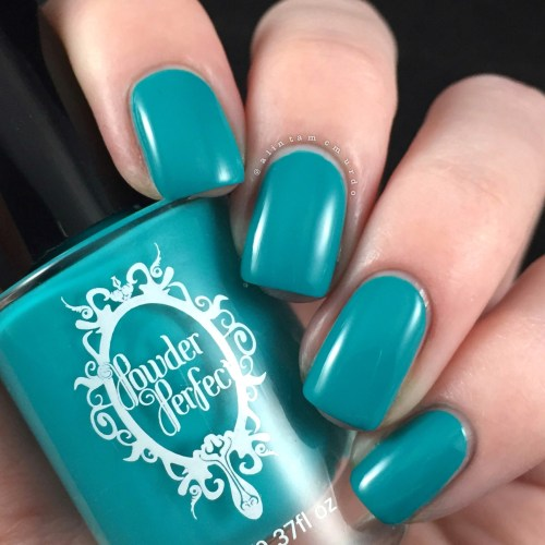 Powder Perfect Bermuda Nail Swatch and Review - Polish and Paws